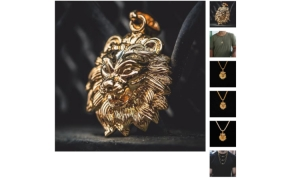 gold lion pendant meaning